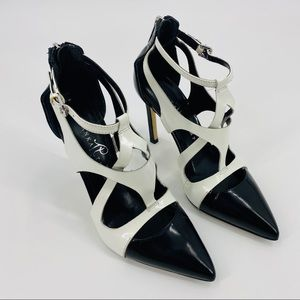 Ivanka Trump Itchatty Black/White Heels Size 6M